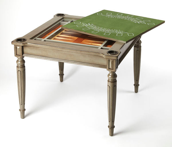 Butler Specialty Company Silver Satin Wooden Multi Game Table