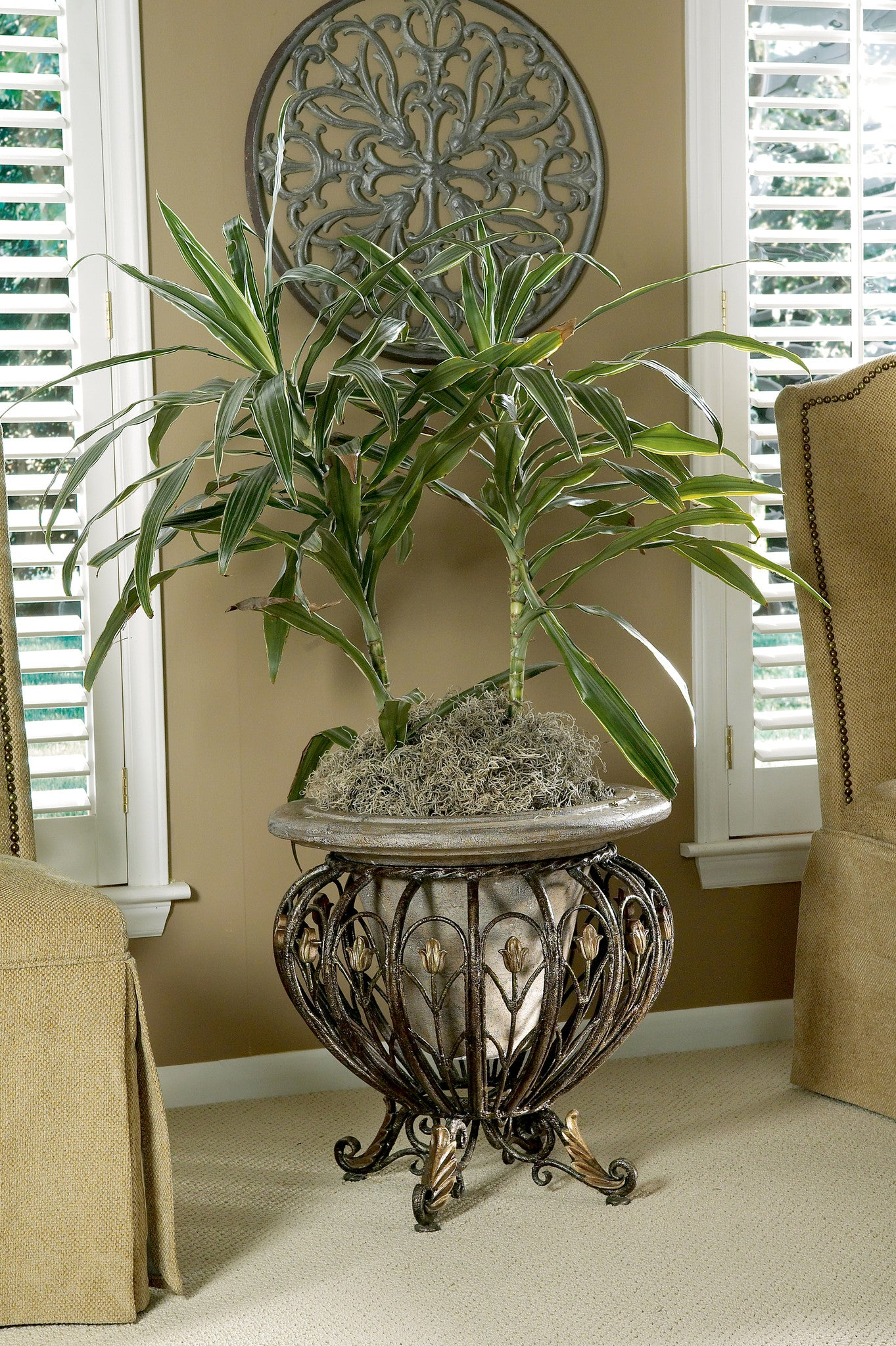 Cast Iron & Stone Planter by Butler Specialty Company 0919070