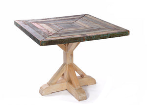 Eat off the Dining Floor Reclaimed Wood Dining Room Table - The Rustic Furniture Store