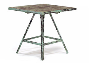 Iron and Wooden Artist's Table - The Rustic Furniture Store