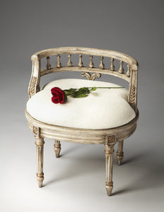 Hathaway Gilted Cream Vanity Seat by Butler Specialty Company 1218238