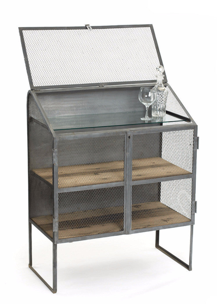 Steel and Wood Bachelors Bureau - The Rustic Furniture Store