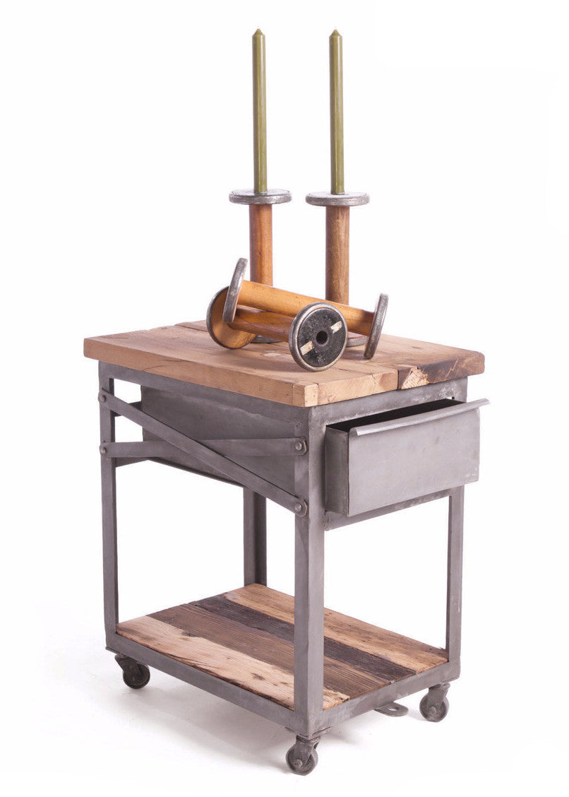Rustic Wood Bedside Table: Iron And Wood Bedside Table