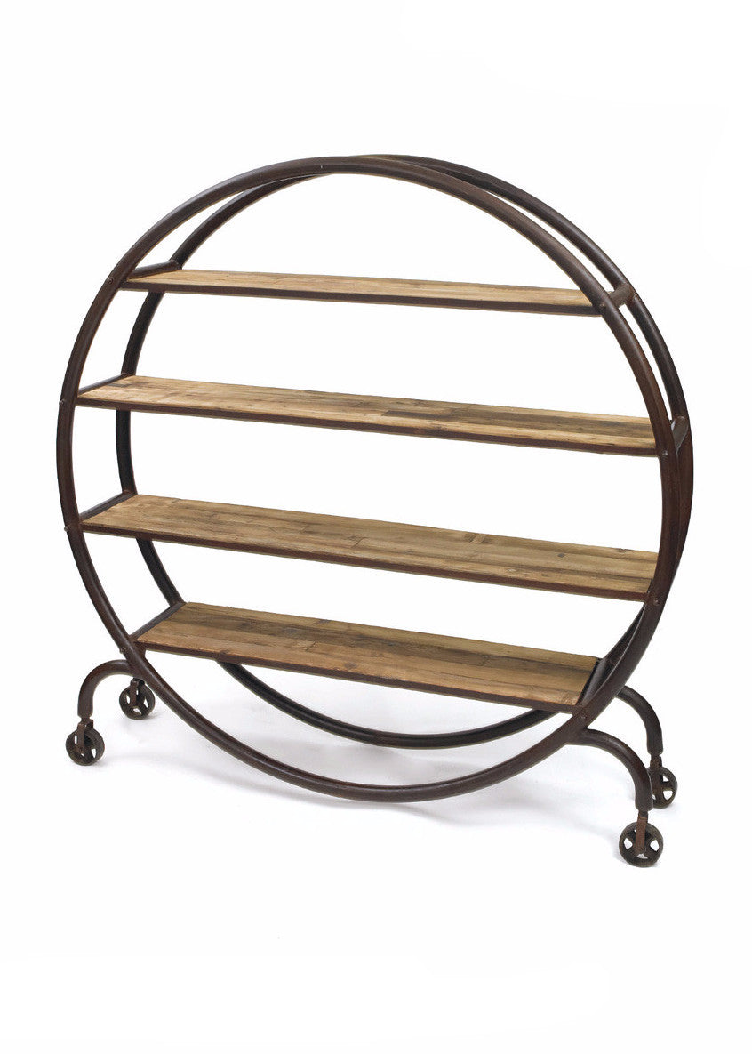 Studio Metal and Wood Bookshelf - The Rustic Furniture Store
