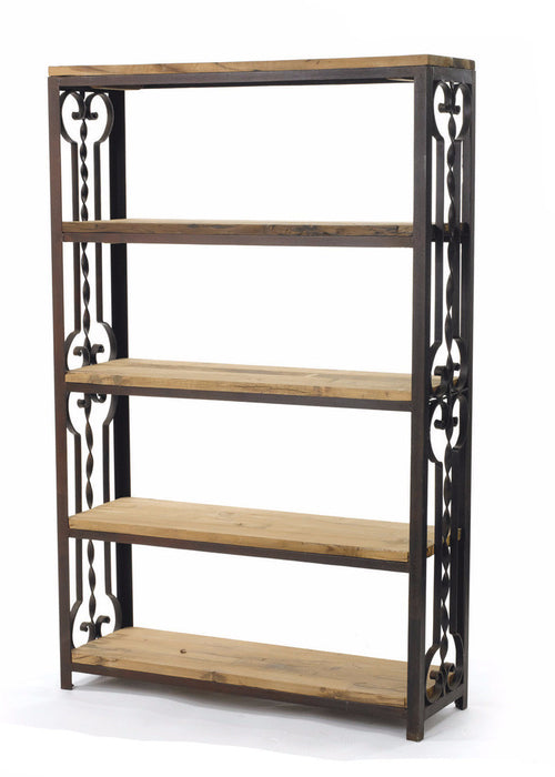 Farrington Wood And Metal Bookshelf