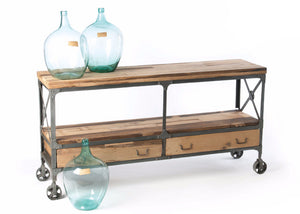 Kenton Wood and Metal Sideboard - The Rustic Furniture Store