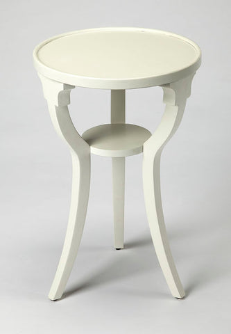 Dalton Cottage White Round Accent Table by Butler Specialty Company 1328222