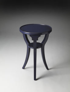 Dalton Navy Round Accent Table by Butler Specialty Company 1328291