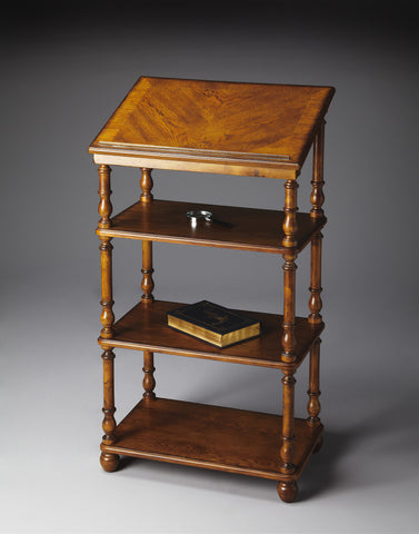 Alden Vintage Oak Library Stand by Butler Specialty Company 1512001