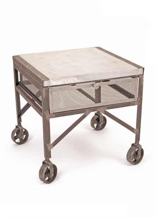 Tailors Steel Table - The Rustic Furniture Store