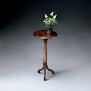 Butler Florence Brown and Gold Pedestal Table 1583119