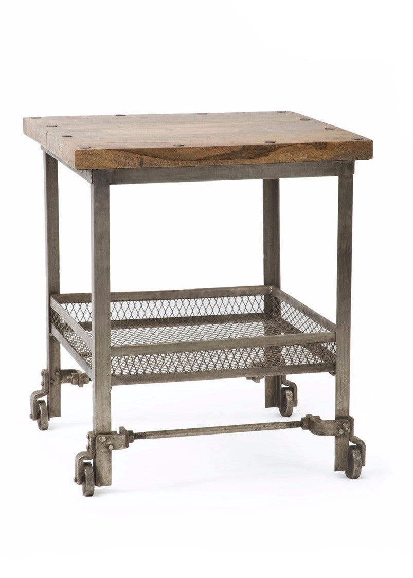 industrial side table by go home ltd 15885 the rustic. Black Bedroom Furniture Sets. Home Design Ideas