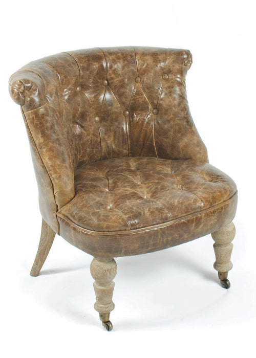 Script Leather Chair - The Rustic Furniture Store