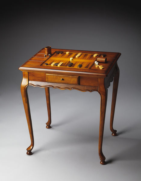 Beautiful Bannockburn Olive Ash Burl Game Table By Butler Specialty Company 1694101