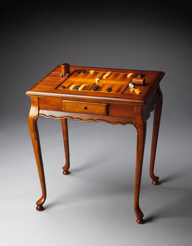Bannockburn Olive Ash Burl Wooden Game Table