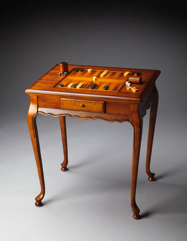Bannockburn Olive Ash Burl Game Table by Butler Specialty Company 1694101