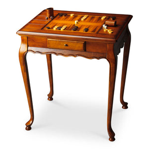 Butler Specialty Company Bannockburn Olive Ash Burl Wooden Game Table