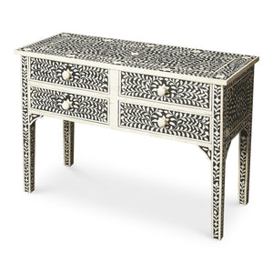 Black Bone Inlay Console Table