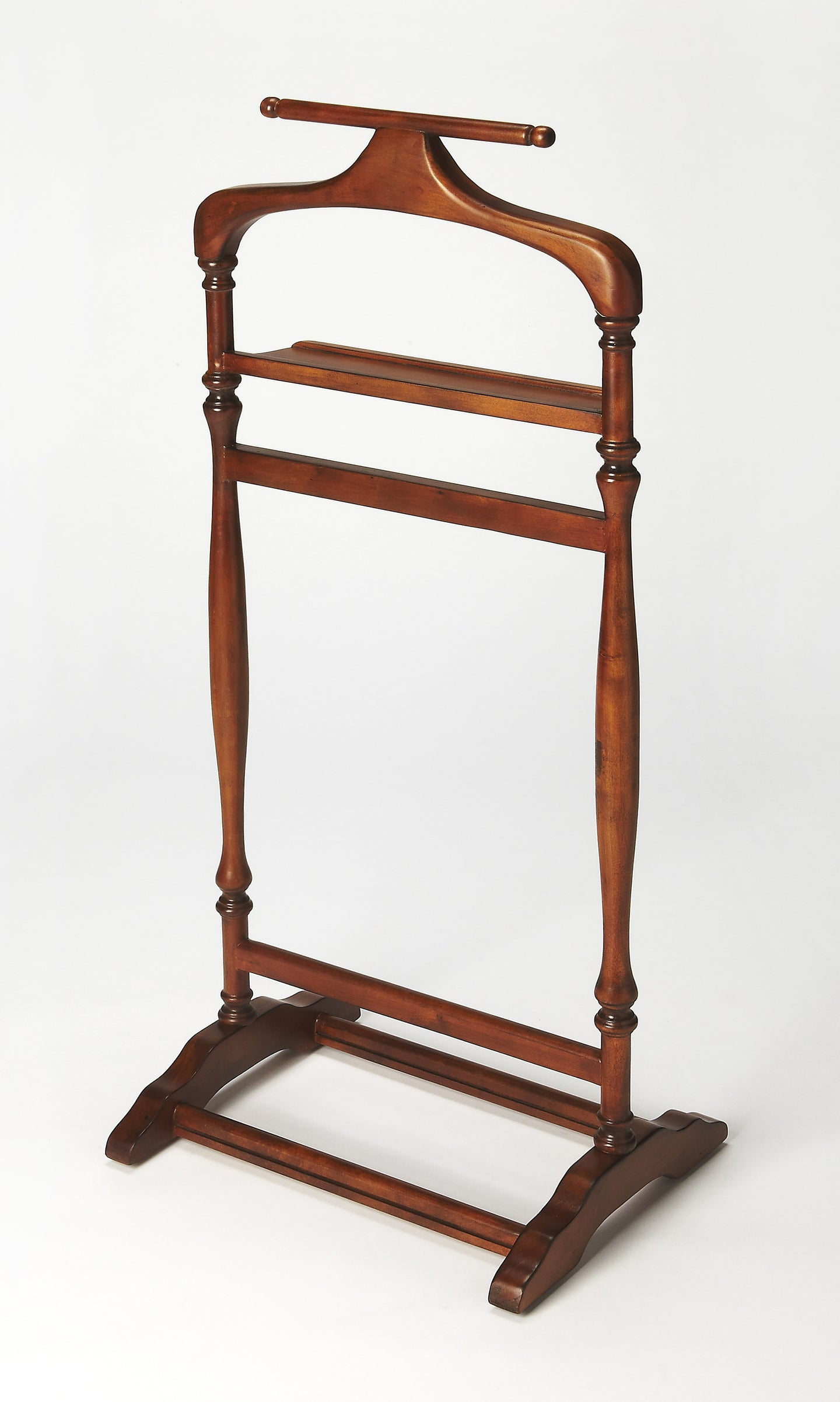 Judson Olive Ash Burl Clothes Valet Stand by Butler Specialty Company 1926101