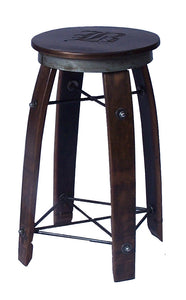 "Wine Barrel Stave Stool 24"" Personalized by 2 Day Designs 197P"