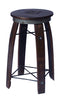 "Wine Barrel Stool 28"" Personalized by 2 Day Designs 199P"