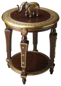 Butler Ranthore Round Brass Accent Table
