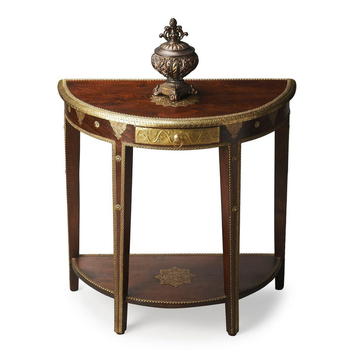 Butler Ranthore Brass Demilune Console Table