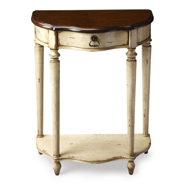 Butler Specialty Company Ashby Vanilla & Cherry 1 Drawer Console Table