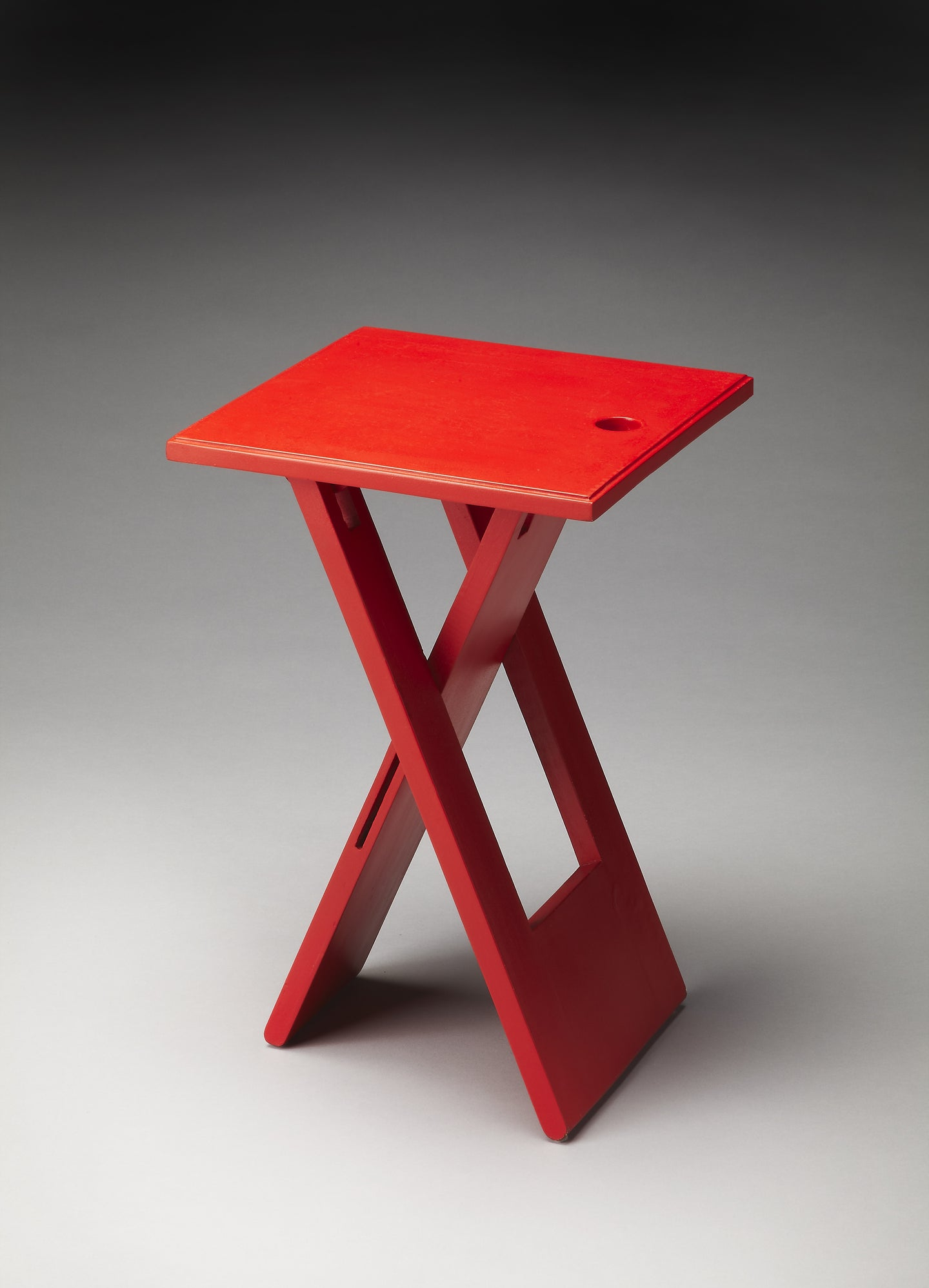 Hammond Wood Red Folding Table by Butler Specialty Company 2259293