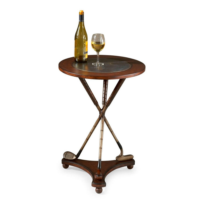 Butler Nineteenth Hole Round Golf Accent Table