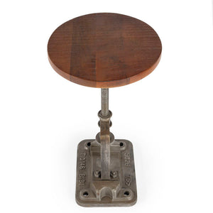 Butler Ellis Industrial Chic Steel and Recycled Wood Accent Table