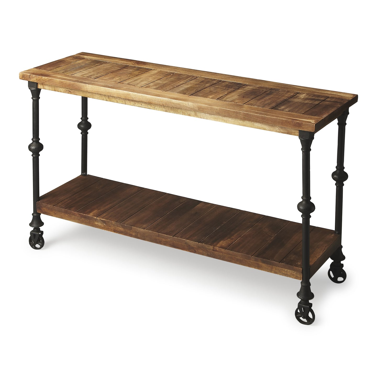 Fontainebleau Industrial Iron and Recycled Wood Chic Console Table by Butler