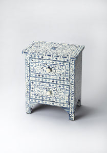 Vivienne Blue Bone Inlay Accent Chest by Butler Specialty Company 2865319