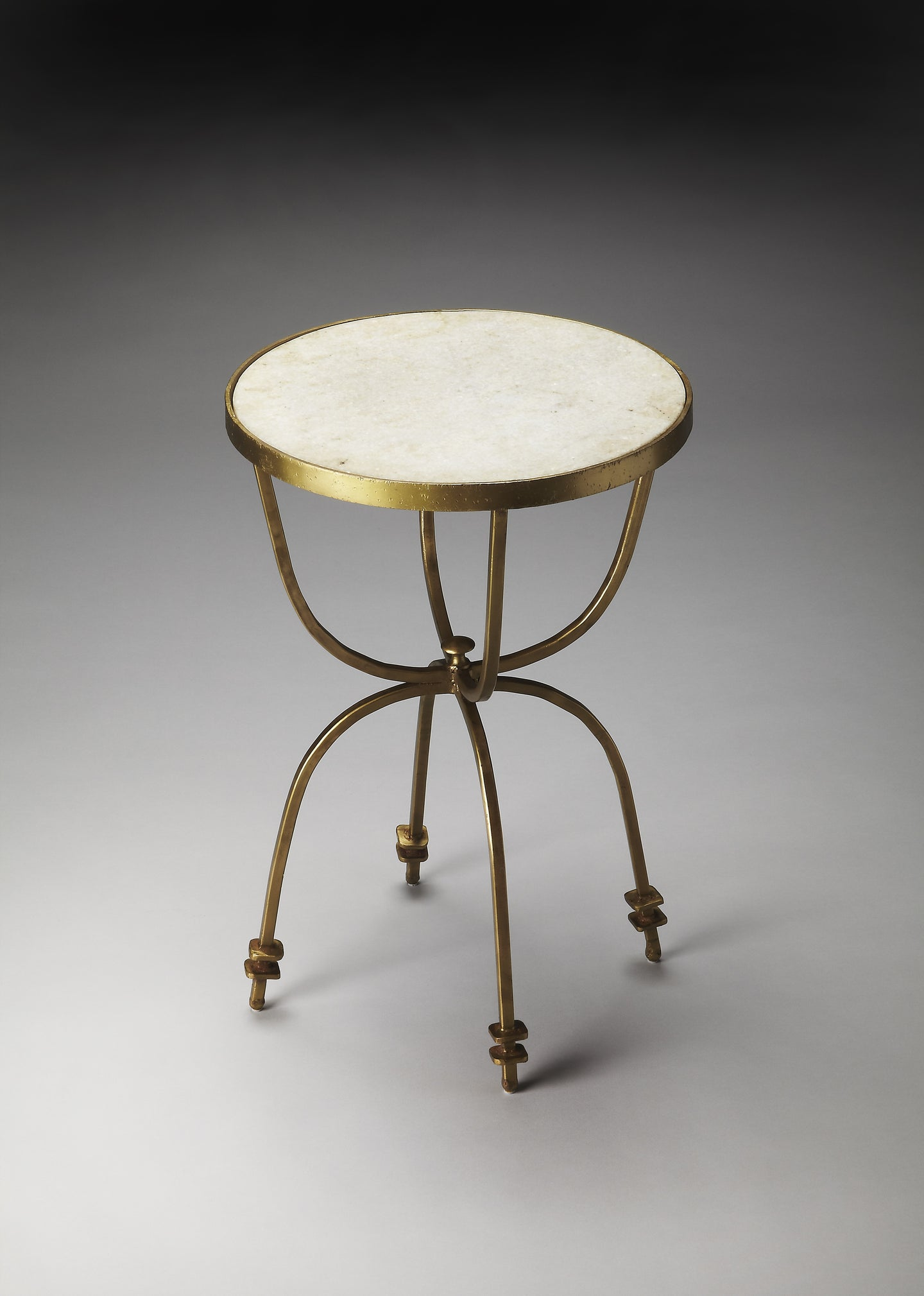 Iron and Marble Gold Accent Table by Butler Specialty Company 2877025