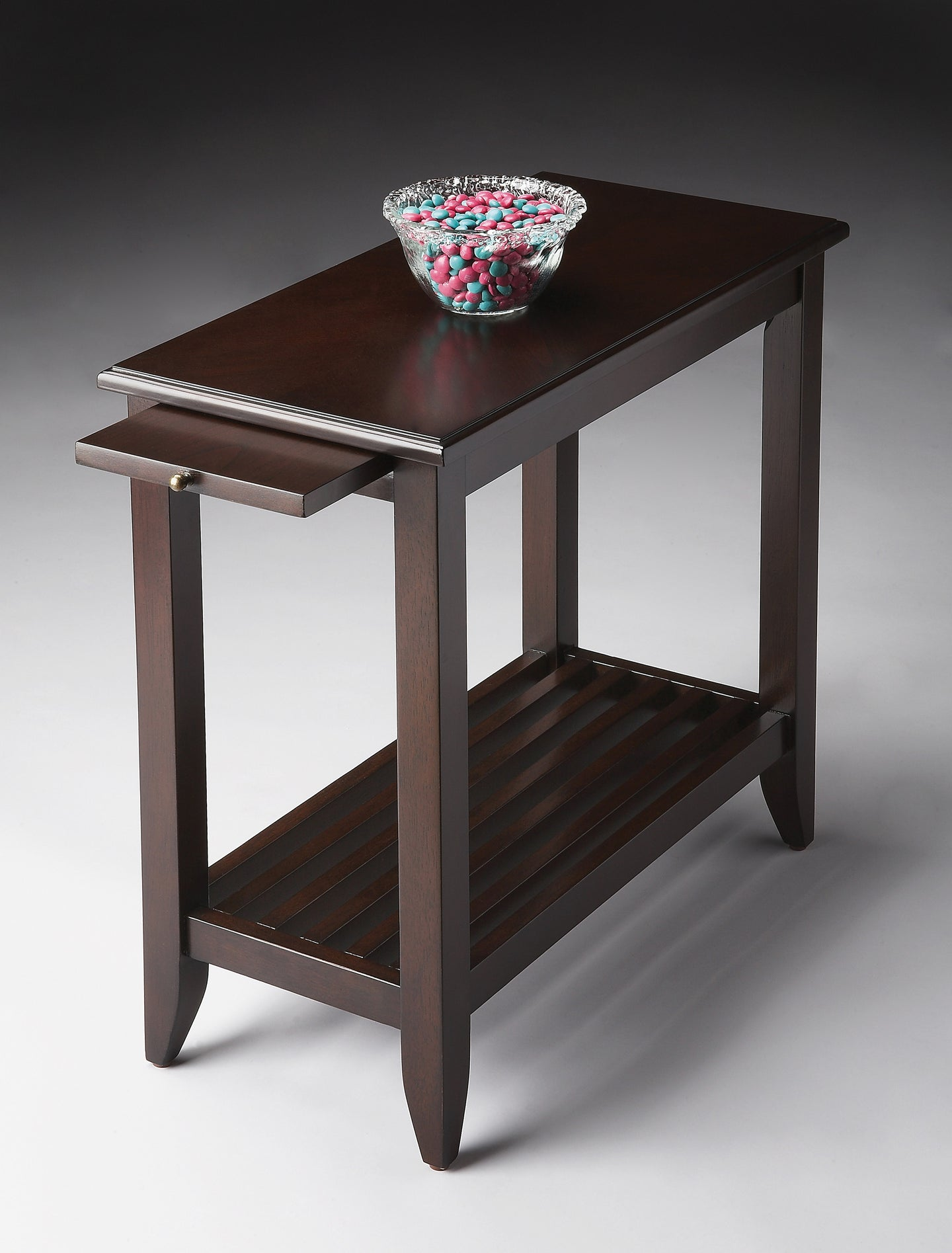 Irvine Merlot Chairside Table by Butler Specialty Company 3025022
