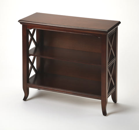 Newport Plantation Cherry Low Bookcase by Butler Specialty Company 3044024