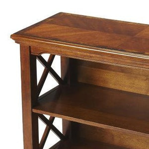 Newport Olive Ash Burl Low Bookcase by Butler Specialty Company 3044101