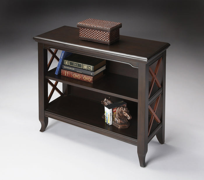 Newport Black & Cherry Low Bookcase by Butler Specialty Company 3044109