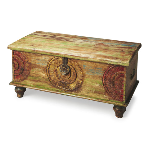 Butler Mesa Carved Wood Trunk Cocktail Table by Butler Specialty Company 3140290