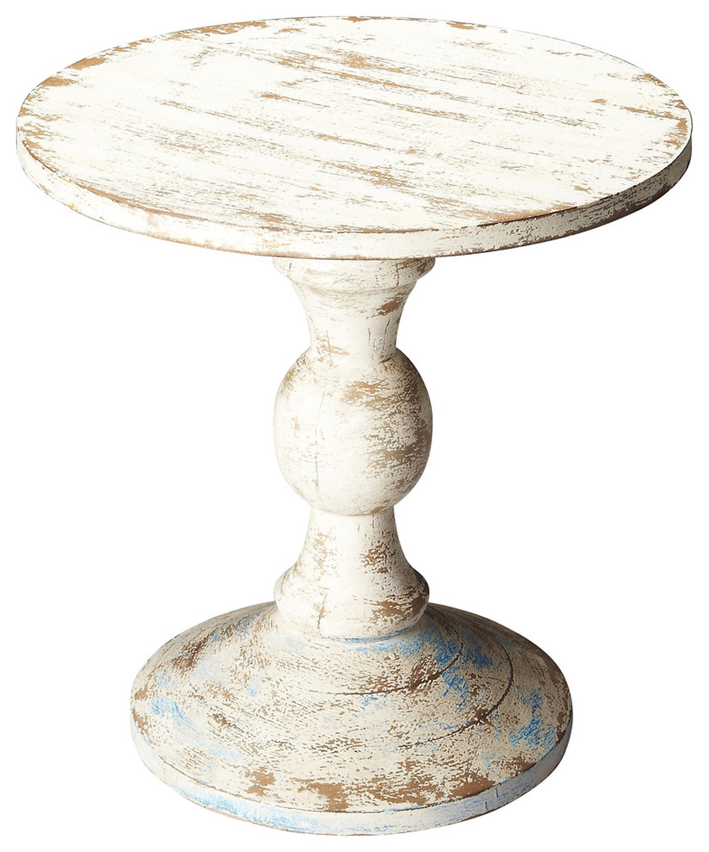 Grandmas Attic Distressed Solid Wood Pedestal Table by Butler Specialty Company 3313290