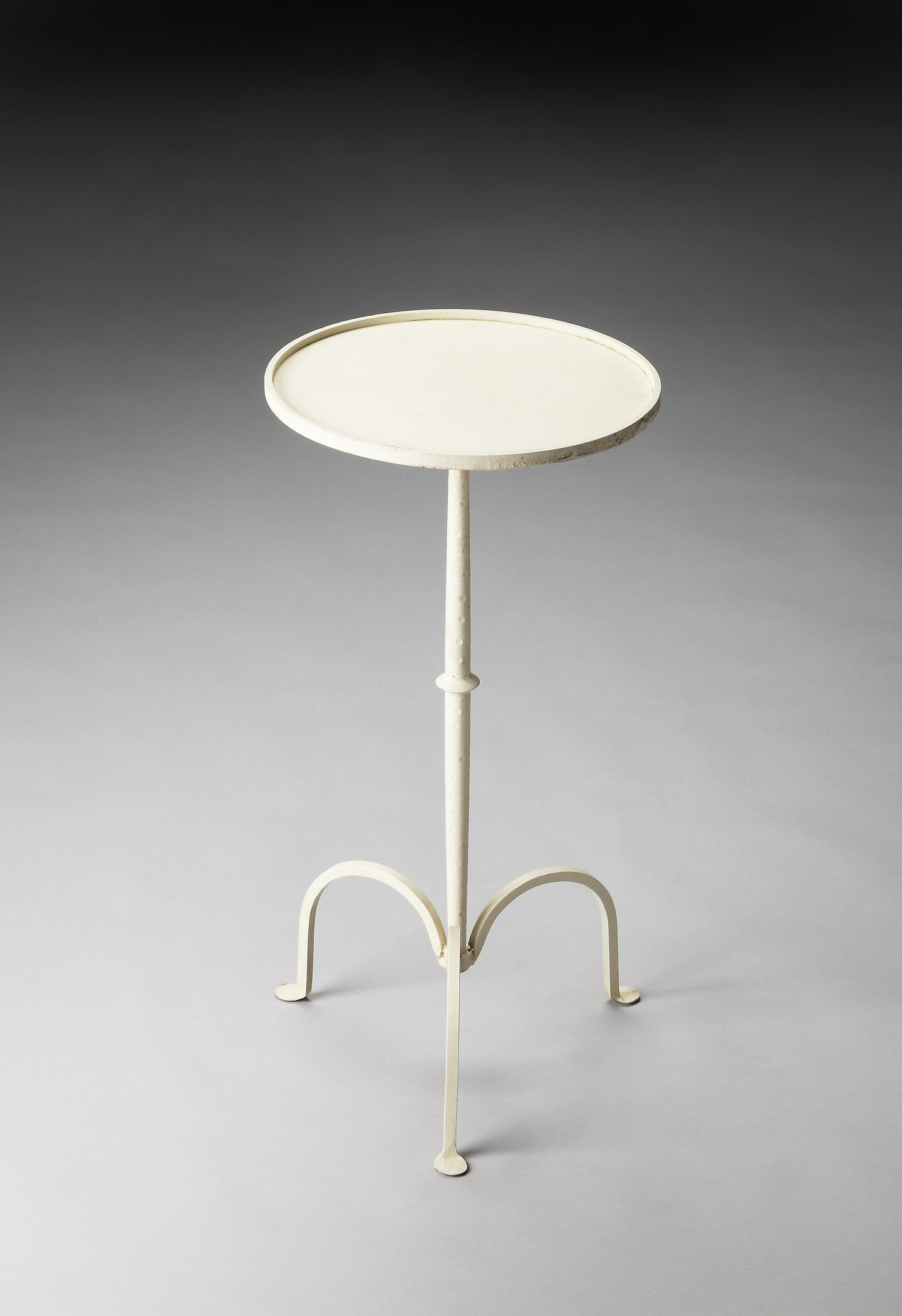 Founders White Iron Pedestal Table by Butler Specialty Company