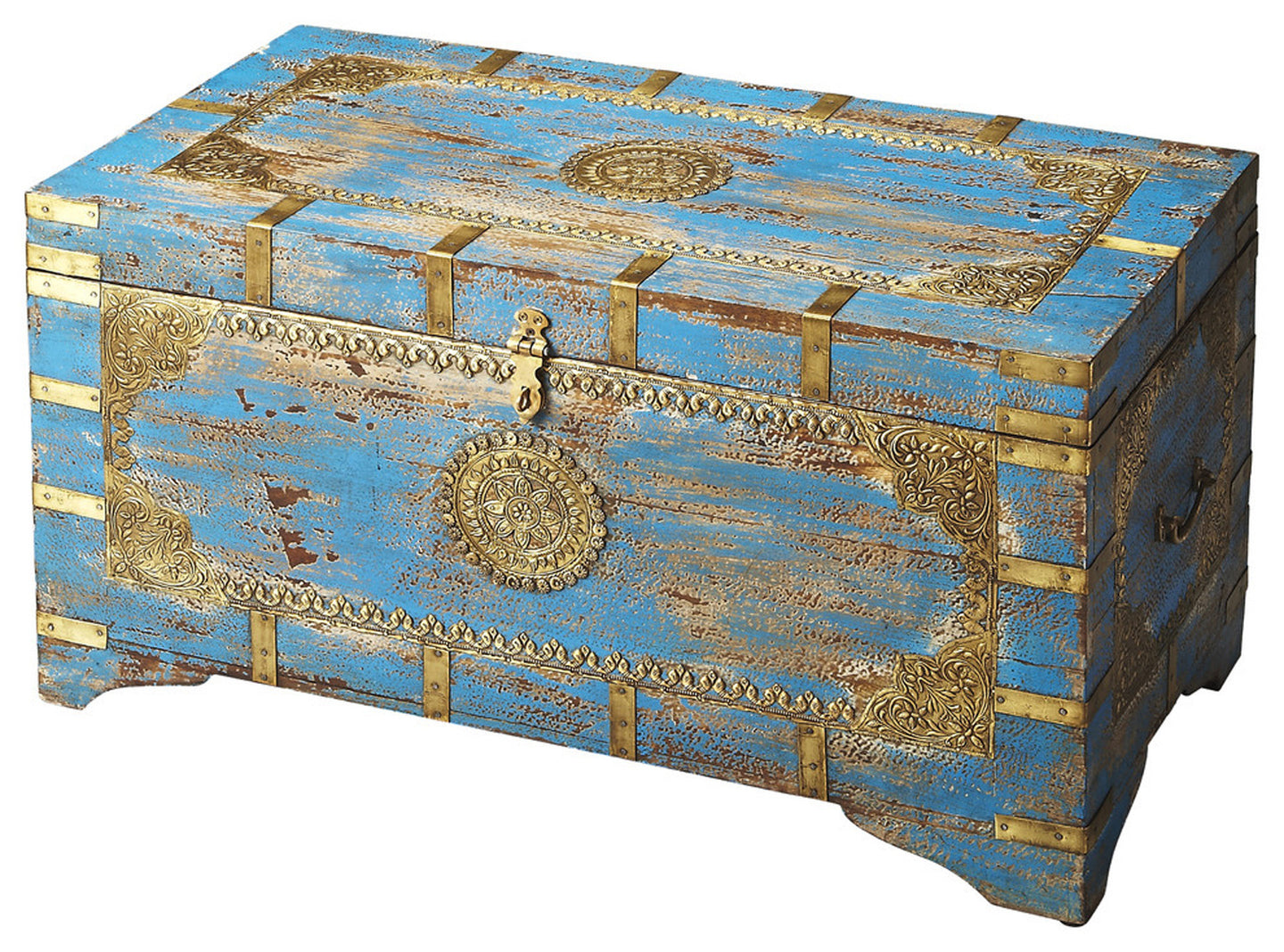 Butler Neela Painted Brass Inlay Storage Trunk by Butler Specialty Company 3387290