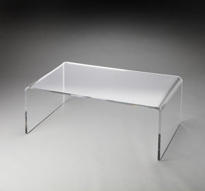 Crystal Clear Acrylic Cocktail Table by Butler Specialty Company 3398140