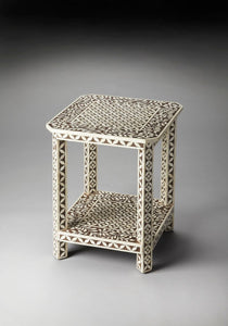 Butler Amelia Brown Bone Inlay Side Table