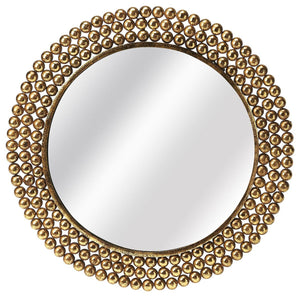 Butler Tiny Bubbles Antique Gold Mirror