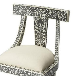 Butler Victorian Garden Black Bone Inlay Accent Chair