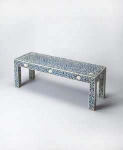 Butler Vivienne Blue Bone Inlay Bench
