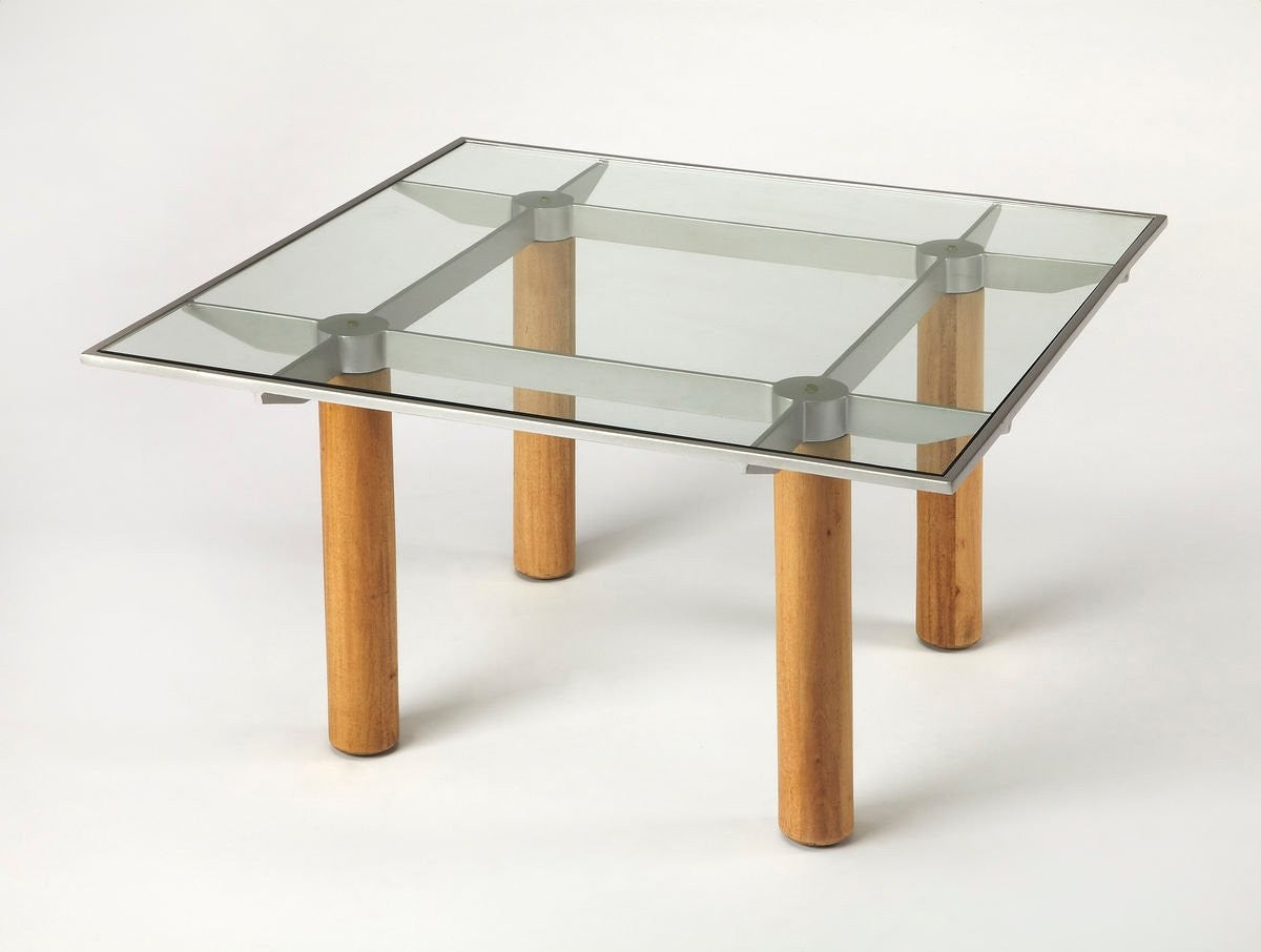 Butler Cirrus Glass & Metal Coffee Table