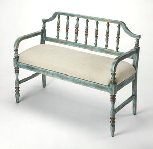 Butler Emilia Weathered Blue Bench