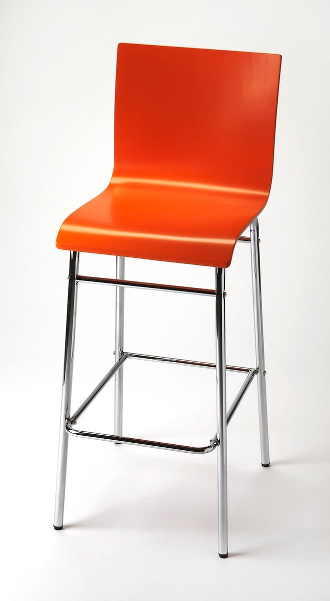 Butler Watney Red Bar Stool